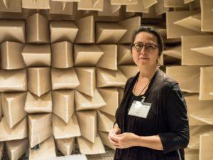 Sandra Schink im AUDI Soundlabor