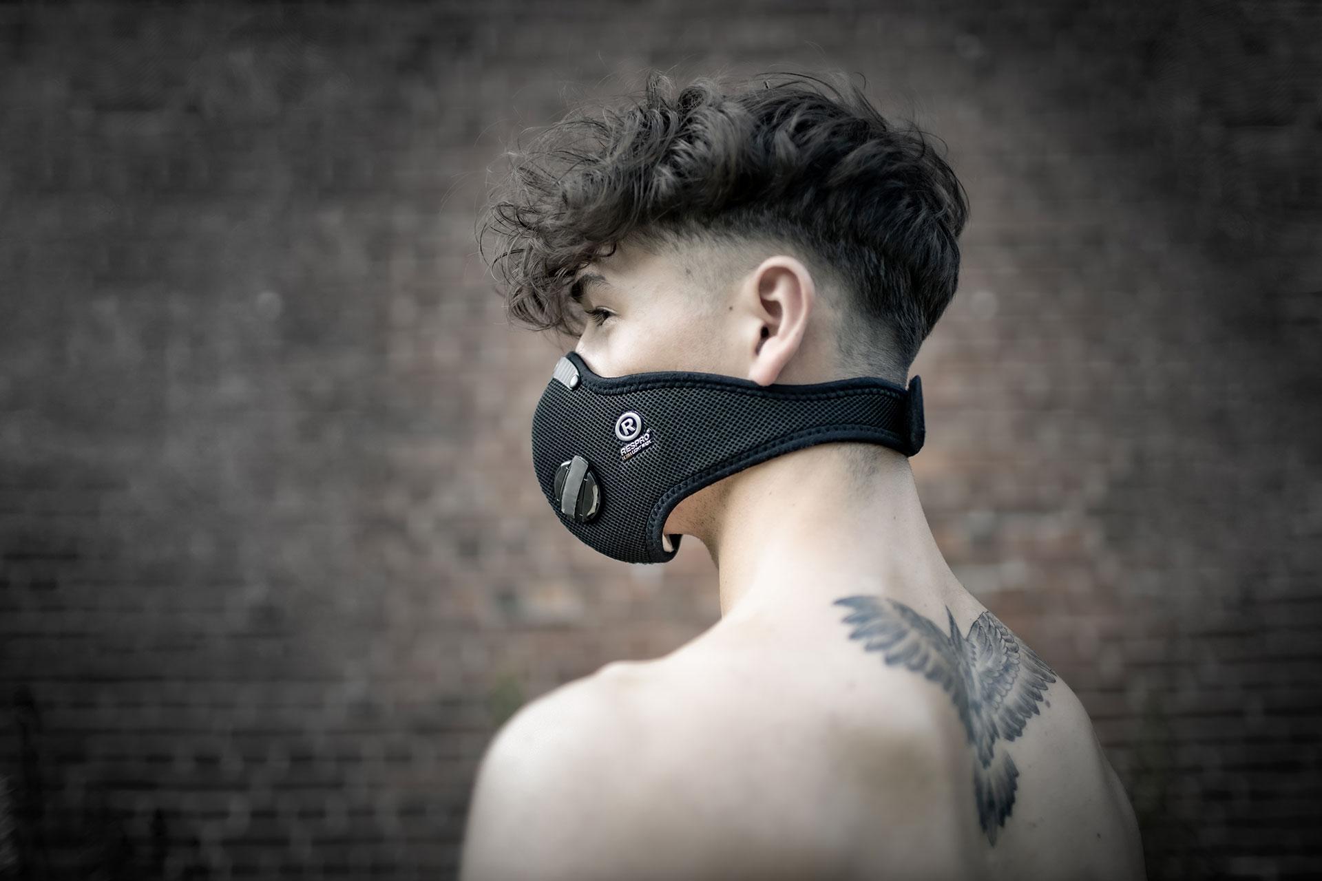 Ben mit Respro-Maske